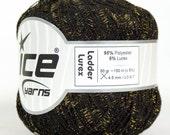 ICE  Ladder Lurex Black Gold Crochet Yarn