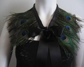 Peacock Feather Collar - Convertible