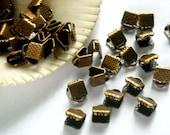 20 Antique Copper Crimp End Caps