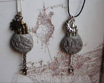 The Edge Chronicles (Paul Stewart & Chris Riddell) Professor of Light and Darkness Friendship Necklaces Pair