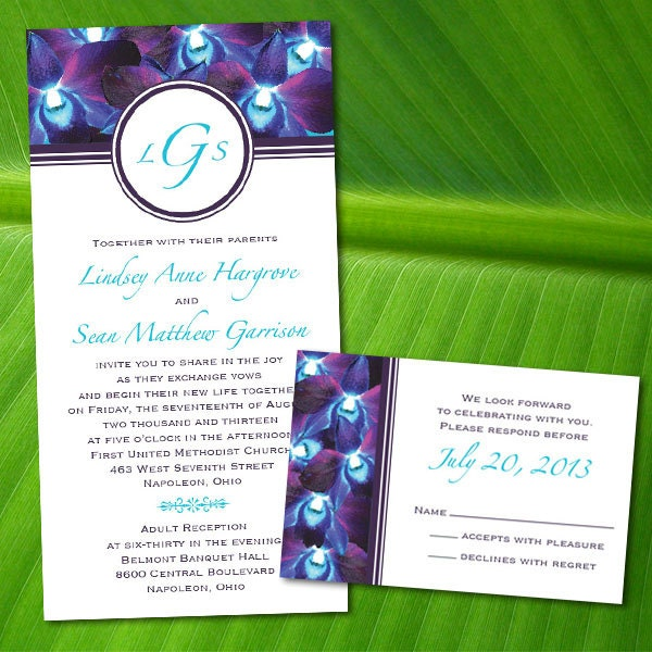 Orchid Wedding Invitations for your inspiration to make invitation template look beautiful