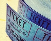 "RESERVED FOR: littlebucksanddoes    100 Sky Blue Raffle Tickets 2""x2"" Free Shipping in USA"