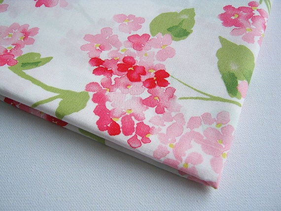 Reserved for Megan Japanese Kimono Yellow Orange Pink Red Japanese Cherry Blossom, Cotton Fabric White Sweet Pink Flower, bunch of flower