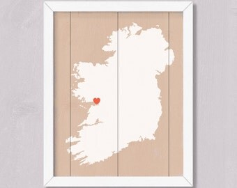 IRELAND - Irish Home Decor - Rustic wall art - Irish Personalized Sign - Custom Irish Wedding Bridal shower Housewarming Family gift