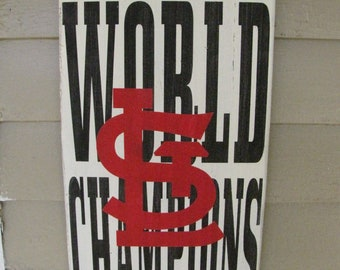 Distressed Wood St. Louis Cardinals Sign