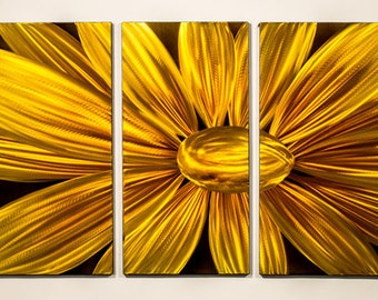Modern Abstract Painting Metal Wall Art Sculpture Blooming Flower