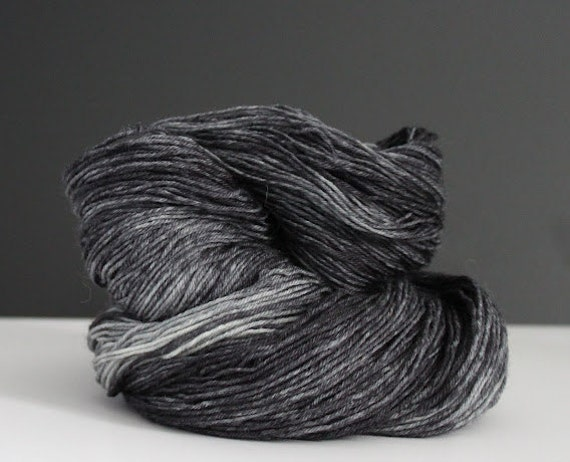 Merino SW Fingering - Black Granite
