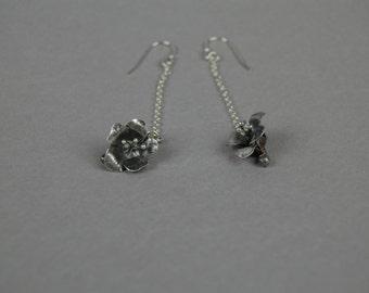 Hibiscus Dangle Earrings