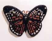The Majestic Monarch Rose Butterfly Bead Embriodered Barrette by Brandon Nemeth