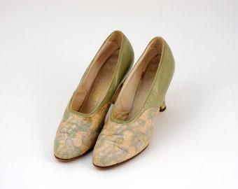 Vintage, Shoes, Rare, Collectible, Rare, circa, 1930, 1940, Size 6, multicolor