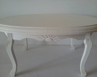 Dolls house miniature dining table in the colour of your choice