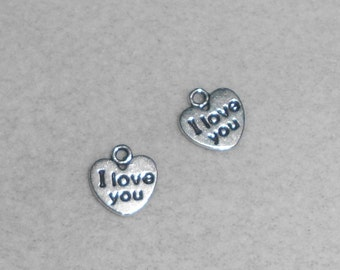 "Silver Heart ""I Love You""  Charms"