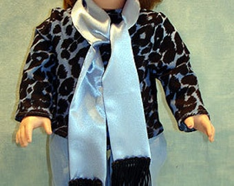 18 Inch Doll Clothes - Blue Leopard Pants Set made to fit 18 inch dolls