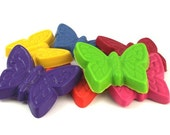 Butterfly Crayons - Set of 7 / Nature Gift / Kids Children Coloring Fun / Eco / Party Favors