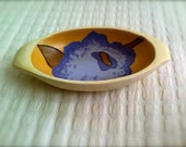 Decorative Hand Painted Wood Bowl