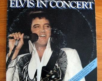 SALE 1977 Elvis in Concert Record 2 Album Set