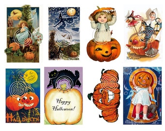 Halloween Download  Vintage Halloween Postcard Digital Download
