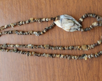 REDUCED            Oyster Shell Necklace Perfect for Beach, Resort or Cruise Wear