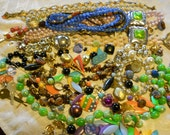 Lot of vintage beads and jewerly pieces