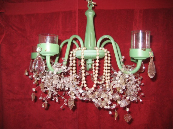 Vintage Candle Chandelier Cottage Chic Chandelier Shabby Chic Romantic Chandelier