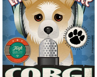 Corgi Studio Original Art Print - Custom Dog Breed Print - 11x14 - Personalize with Your Dog's Name