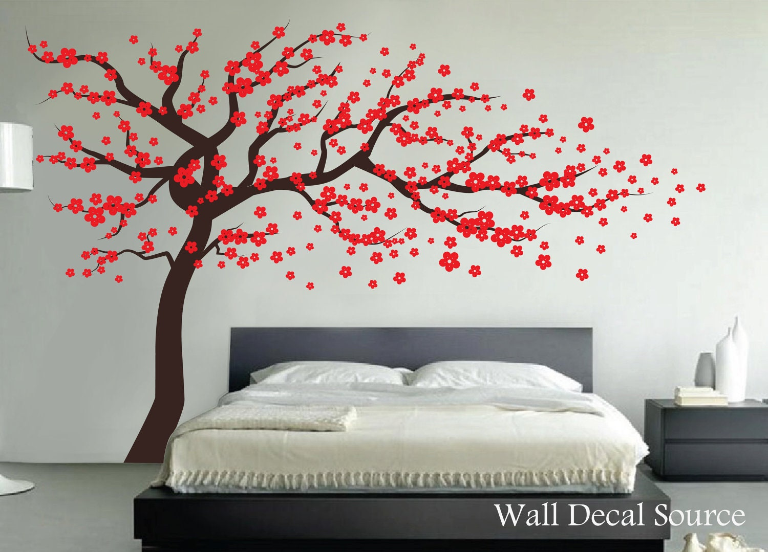 Chandeliers pendant lights for Cherry blossom wall mural stencil