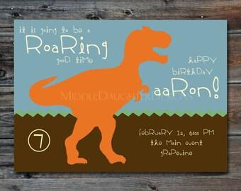 Dinosaur Personalized Invitation/Announcement