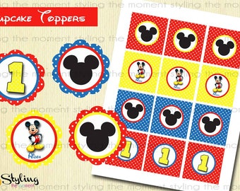 Mickey Mouse Cupcake Toppers and FREE Wrappers