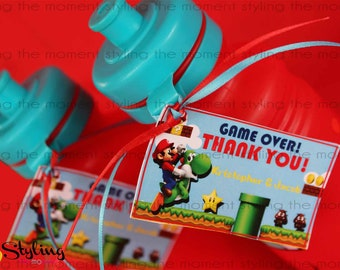Super Mario Bros Gift Tags