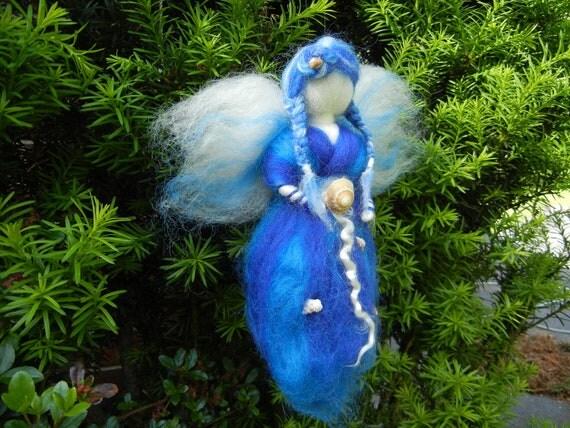 Sea Fairy  - Needle felted Waldorf  item 1-1001