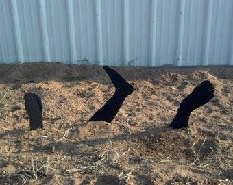 Zombie Lawn Decor/ Garden Stakes Feet