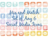 Mix and Match Your Choice of Any 6 Social Media Buttons