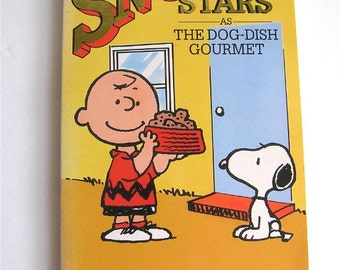 Vintage book, Snoopy Stars As The Dog-Dish Gourmet, 12, Peanuts, Charlie Brown, child and adult, cartoon