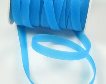 Rubber cord 8mm flat, dark sky blue luminous, 5 feet