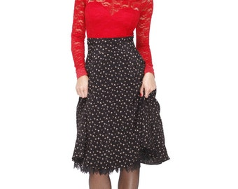 Pin Up, Retro high waist skirt Rockabilly skirt/ swing skirt