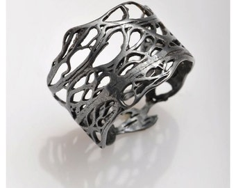 Sterling silver LURI rings from the sabrawear collection,BLACK .oxidized black silver,