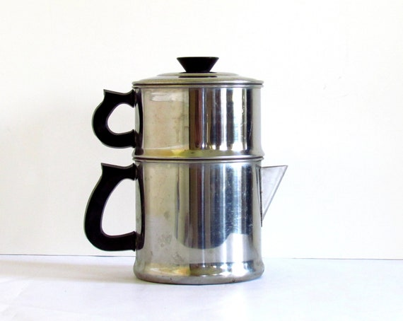 Vintage Coffee Espresso Maker Pot / Drip Stove Top / Camping