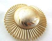 Vintage Gold Button Scarf Clip