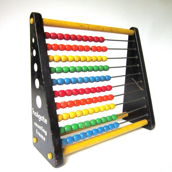 Vintage 1950s Holgate Counting Frame, Children's Toy Abacus