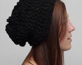 Women's Black Knit Beanie
