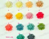 10pcs Vivid Flower Cabochons/Earring Cabochons/Jewelry Charm/Reg Mail