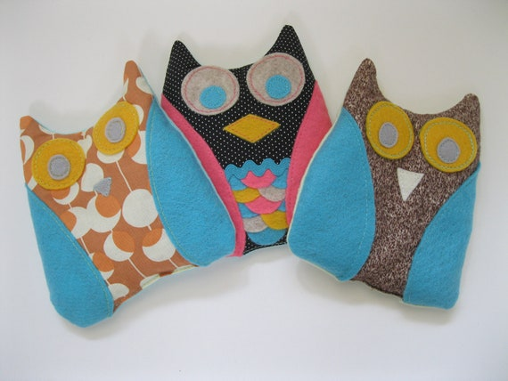 Ouchie Owl Boo Boo Heat Pack. Reusable Hot & Cold Pack with Flaxseed and Lavender. Boho Baby Owl Buddy. Heal the back to school boo boos.