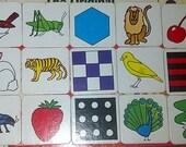 1980 Milton Bradley The Original Memory Card Matching Game, Vintage, Beautiful Printed Cards