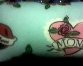 Hand Crafted Small I Love Mom Pillow