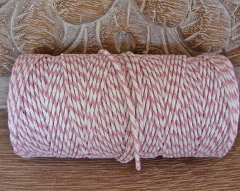 Baker's Twine - Pink and White Twine - Full 100 Yard Spool