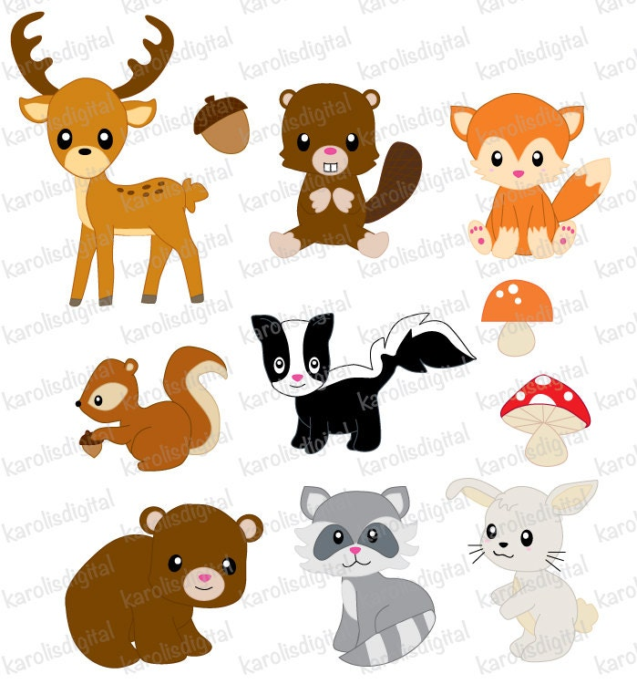 Baby forest animals clipart - photo#1