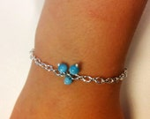 Sky blue Cat's eye bracelet