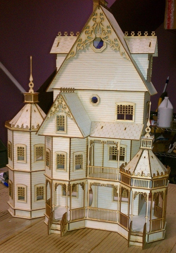 Ashley Gothic Victorian Dollhouse Half Inch Scale Kit