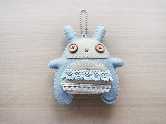 Felt Plushies - Bunny plush Keychain - felt keychain - Kawaii keychain - READY TO SHIP