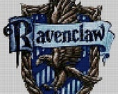 Harry Potter Ravenclaw House Crest cross stitch PDF pattern chart. Sent by Email